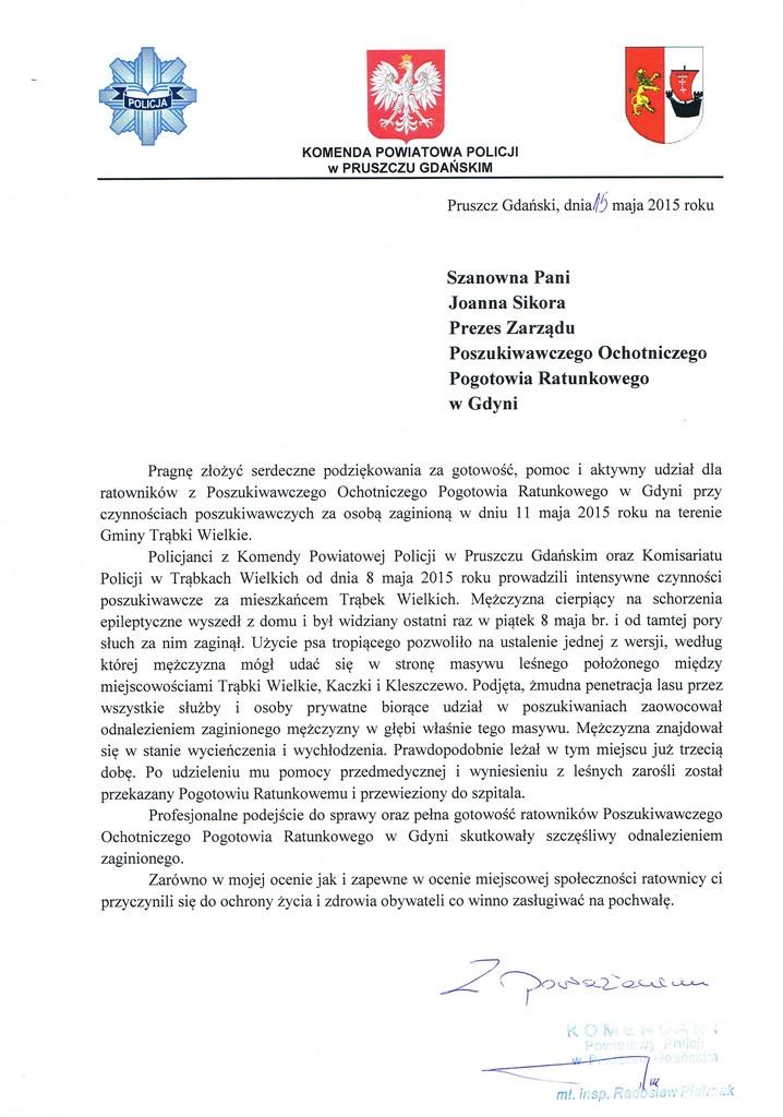KPP Pruszcz Gdanski 15.05.2015