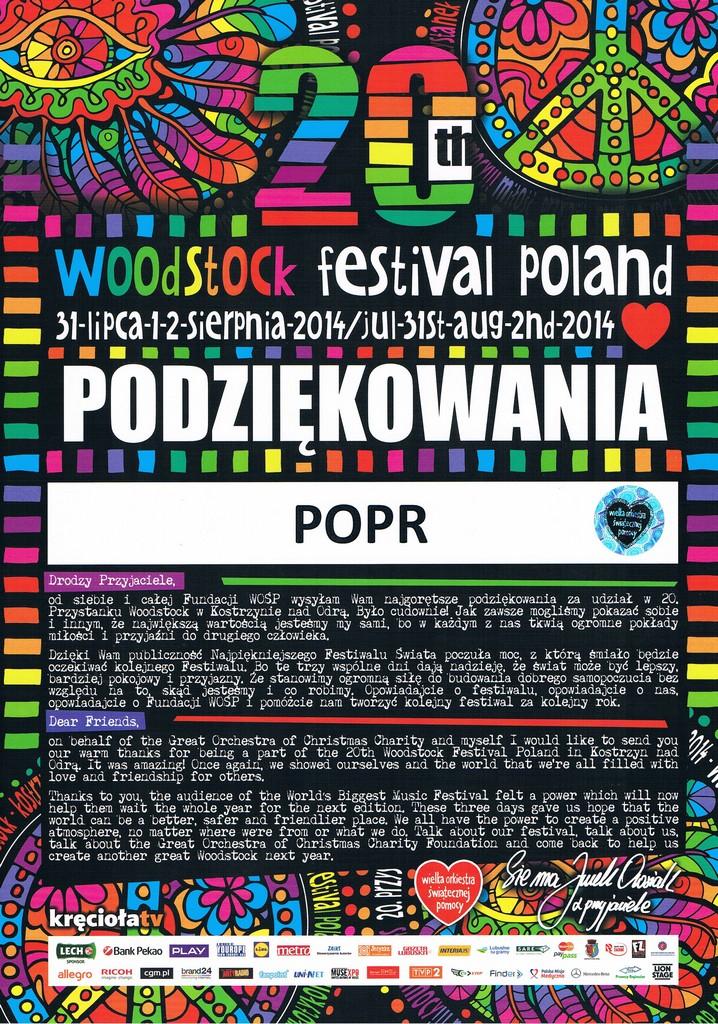 WOSP 2014 WOODSTOCK
