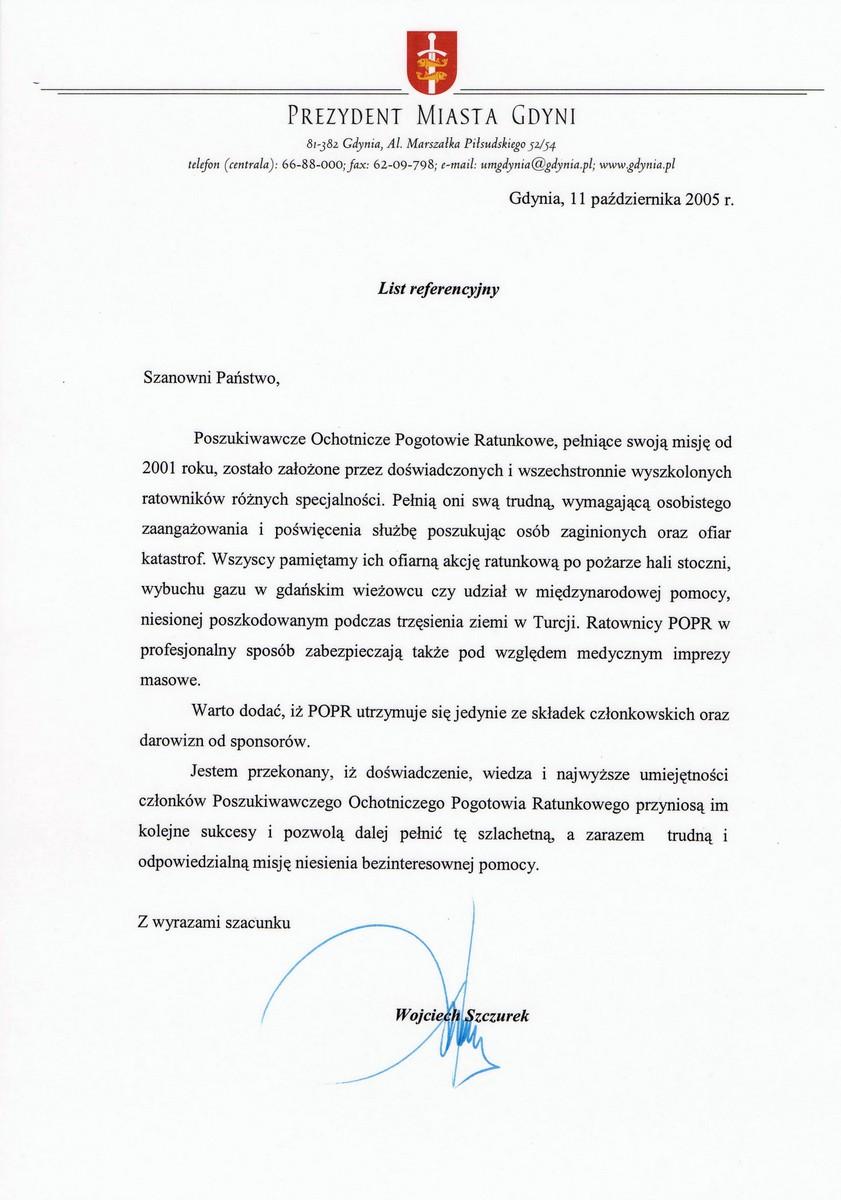 Rekomendacja UM Gdynia