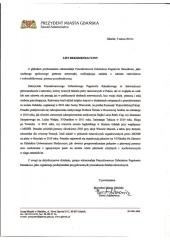 Rekomendacje Prezydenta Miasta Gdańska